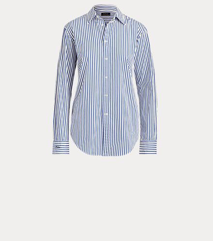 宽大版型条纹衬衫