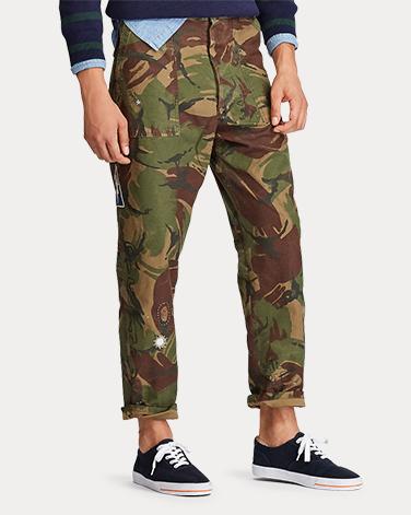 宽松版型迷彩裤