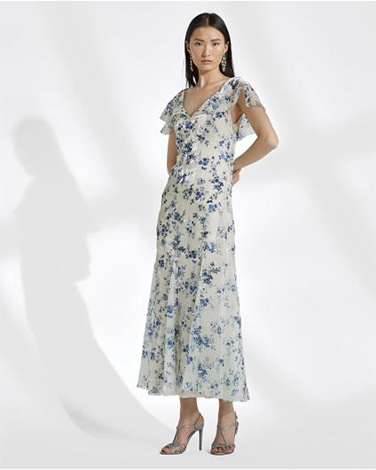 Ralph Lauren Kegan-花卉图案晚礼服