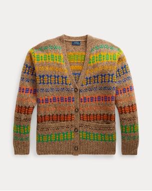 Ralph Lauren 费尔岛杂色图案针织开襟衫