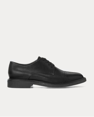 Ralph Lauren Asher皮革鞋头加横饰皮鞋